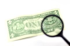 Examine the dollar #3 Stock Photography