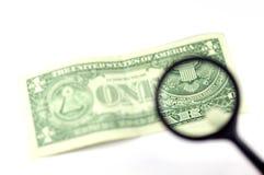 Examine the dollar #3 Stock Photography