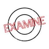 Examine el sello de goma stock de ilustración