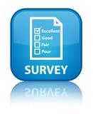 Examine (icono del cuestionario) el botón cuadrado azul ciánico especial ilustración del vector