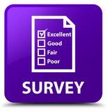 Examine (icono del cuestionario) el botón cuadrado púrpura ilustración del vector