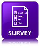 Examine (icono del cuestionario) el botón cuadrado púrpura libre illustration