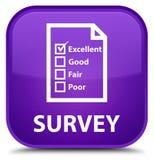 Examine (icono del cuestionario) el botón cuadrado púrpura especial libre illustration