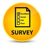 Examine (icono del cuestionario) el botón redondo amarillo elegante libre illustration