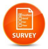 Examine (icono del cuestionario) el botón redondo anaranjado elegante libre illustration