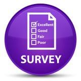Examine (icono del cuestionario) el botón redondo púrpura especial libre illustration