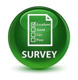 Examine (icono del cuestionario) el botón redondo verde suave vidrioso stock de ilustración