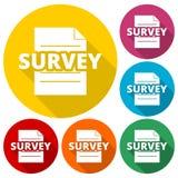 Examine la muestra, icono de la encuesta, 6 colores incluidos libre illustration