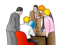 Examine o negócio ilustração stock