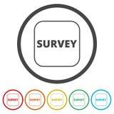 Examine o sinal, ícone da avaliação, 6 cores incluídas ilustração royalty free