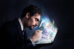 Examine um computador imagem de stock royalty free