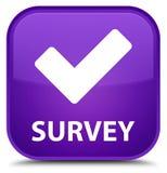 Examine (valide el icono) el botón cuadrado púrpura especial libre illustration