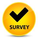 Examine (valide el icono) el botón redondo amarillo elegante stock de ilustración