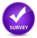 Examine (valide el icono) el botón redondo púrpura elegante libre illustration