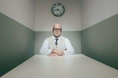 Examining applicants. Senior boss examining applicants during job interview Stock Photo