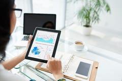 Examining business activity Stock Image