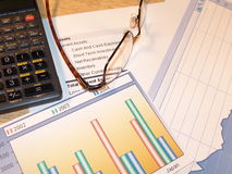 Examining Charts Stock Photos