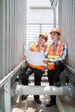 Examining construction Stock Image