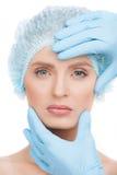 Examining face before surgery. Stock Image