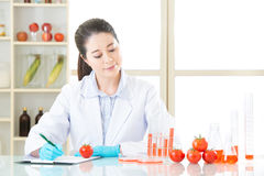 Examining genetic modification food test result is important. For scientist royalty free stock photo