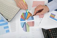 Examining graphs Stock Photos