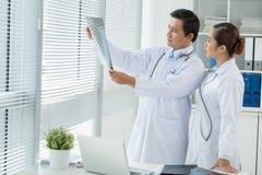 Examining lungs x-ray Stock Photos