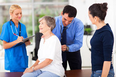 Examining senior patient Royalty Free Stock Photo