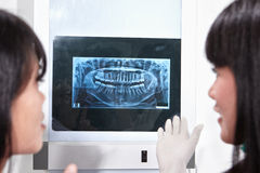 Examining teeth X Ray Royalty Free Stock Image