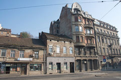 Example of Art-nouveau architecture in old Savamala Quarter in Belgrade. Sava Quarter in Belgrade (Serbia) is located on the bank of the Sava River. The largest Royalty Free Stock Photo
