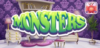 Example of the boot screen for computer games Monsters Stock Photography