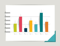 Example of business flat design graph. Royalty Free Stock Photo