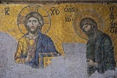 Example of Christian art in Hagia Sophia Museum in Istanbul. ISTANBUL, TURKEY - MAY 26 : Example of Christian art in Hagia Sophia Museum in Istanbul Turkey on Royalty Free Stock Photos