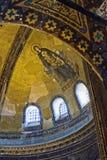 Example of Christian art in Hagia Sophia Museum in Istanbul. ISTANBUL, TURKEY - MAY 26 : Example of Christian art in Hagia Sophia Museum in Istanbul Turkey on Stock Photo