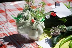 An example of decorative work with vegetables. royalty free stock images