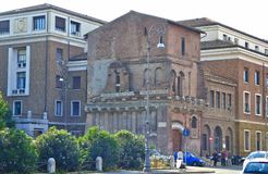 An example of different architecture in Rome Italy stock images