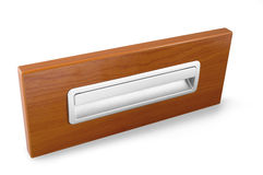 Example of furniture accessories - door furniture handles isolat Royalty Free Stock Image