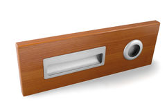 Example of furniture accessories - door furniture handles isolated with clipping path Royalty Free Stock Photos