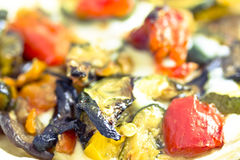 Pizza base with mixed veggies Stock Photo