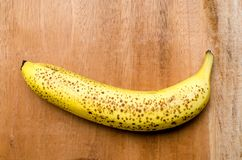 Overripe bananas on a table. Example of how overripe bananas looks royalty free stock images