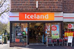 Example of an Iceland Store Royalty Free Stock Photo