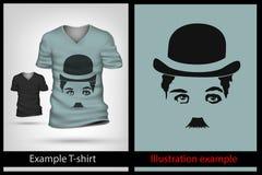Example illustration on T-shirt. Royalty Free Stock Photo