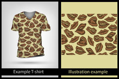 Example illustration on T-shirt. Royalty Free Stock Photos