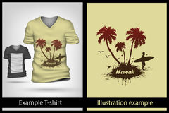 Example illustration on T-shirt. Stock Photography