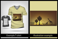 Example illustration on T-shirt. Royalty Free Stock Images