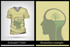 Example illustration on T-shirt. Royalty Free Stock Photography