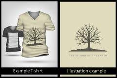 Example illustration on T-shirt. Stock Image