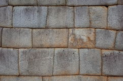 Example of Inca brickwork inside Machu Picchu Royalty Free Stock Photography