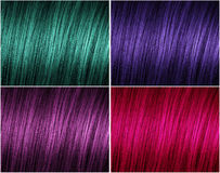 Example of a modern palette of colors for hair Stock Images