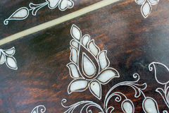Example of Mother of Pearl inlays Stock Image