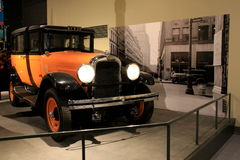 Example of old taxi cab on display at the State Museum,Albany,New York,2016 Stock Photography